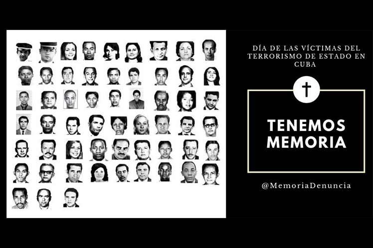 Cuba conmemora Día de las Víctimas del Terrorismo de Estado