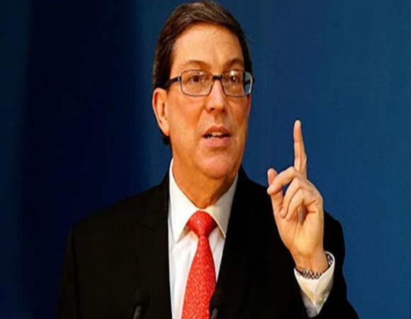 Rechaza Bruno Rodríguez palabras de Secretario de Estado de EE.UU.