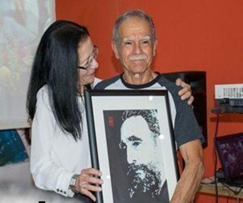 Participa Oscar López Rivera en homenaje a Fidel