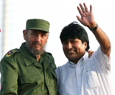 Evo Morales felicita a Fidel y ratifica admiración por Cuba
