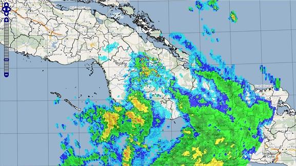 Lluvias y vientos en Camagüey durante paso de tormenta tropical por el territorio