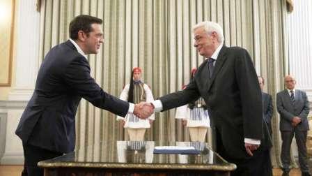 Jura Alexis Tsipras como Primer Ministro de Grecia