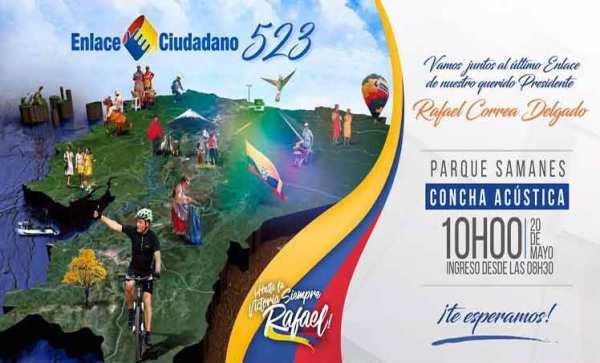 Correa rindió cuenta a los ecuatorianos con su último Enlace Ciudadano