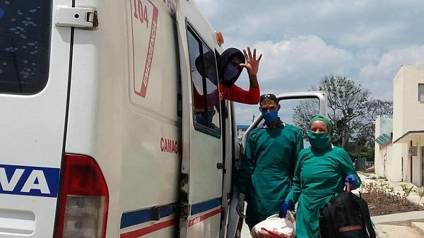 Primera alta médica de un camagüeyano contagiado con la COVID-19 (+ Fotos)
