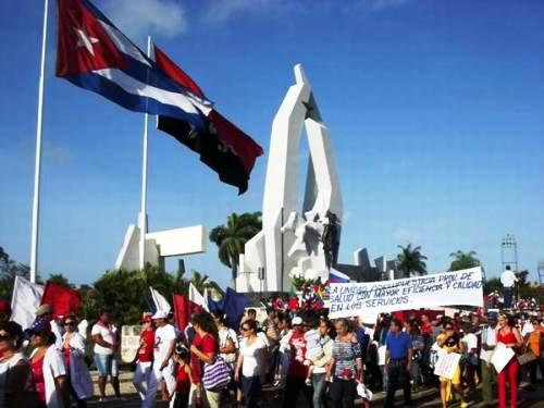 El Sindicato de las Ciencias, presente en el desfile de los trabajadores camagüeyanos