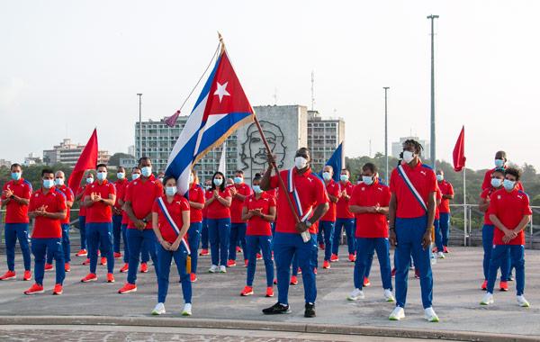 Delegación cubana asistente a Tokio 2020 conmemora efeméride patriótica del 26 de Julio