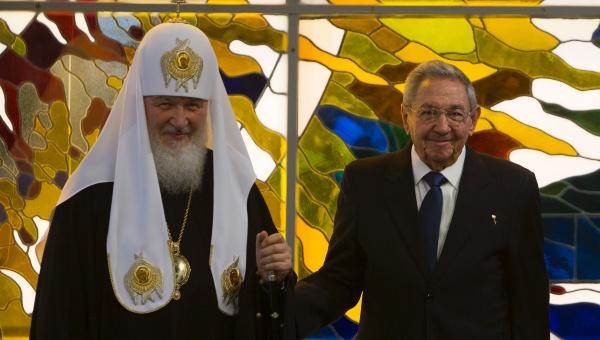 Patriarca Kirill envía mensaje de agradecimiento a Raúl Castro