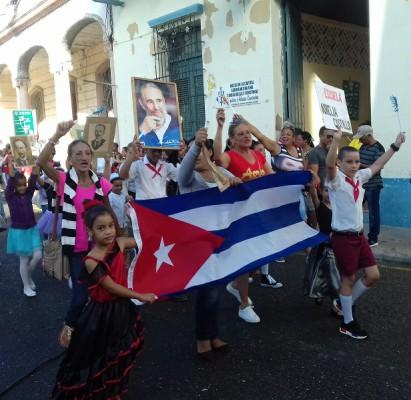 Niños y adolescentes camagüeyanos evocan al hombre de La Edad de Oro (+ Fotos)