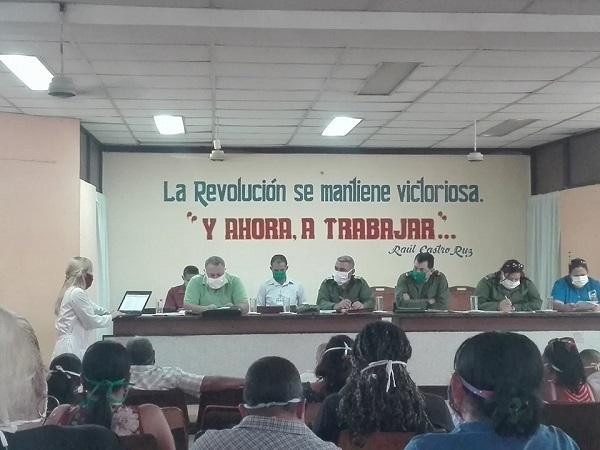 Autoridades de Camagüey evaluaron las acciones contra la COVID-19 implementadas en Jimaguayú