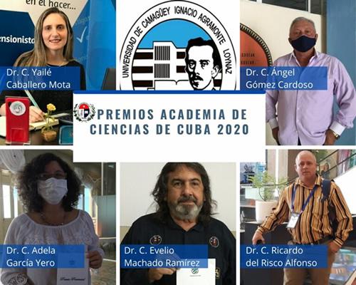Obtiene Universidad de Camagüey nueve Premios Academia de Ciencias 2020