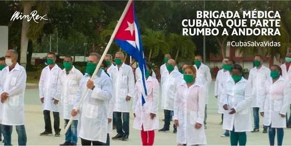 Médicos cubanos llegarán a Andorra con su solidaridad para enfrentar la COVID-19