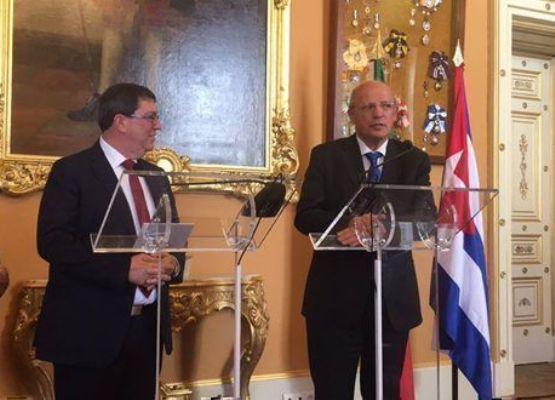 Dialogan en Lisboa cancilleres de Cuba y Portugal (+ Fotos)