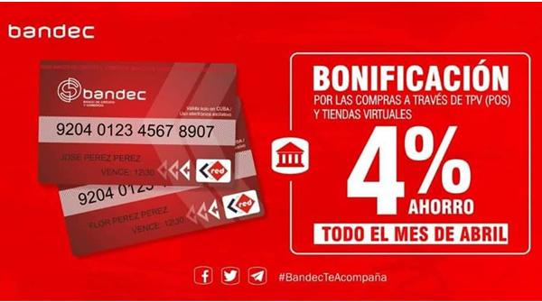Bonifica BANDEC a clientes que realicen pagos con tarjetas magnéticas