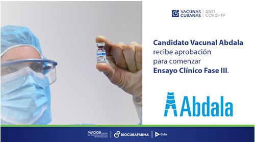 Aprueban Fase III de ensayo clínico para candidato vacunal Abdala contra la COVID-19