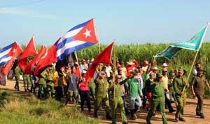 Columna Juvenil por la ruta del Che Guevara en Camagüey
