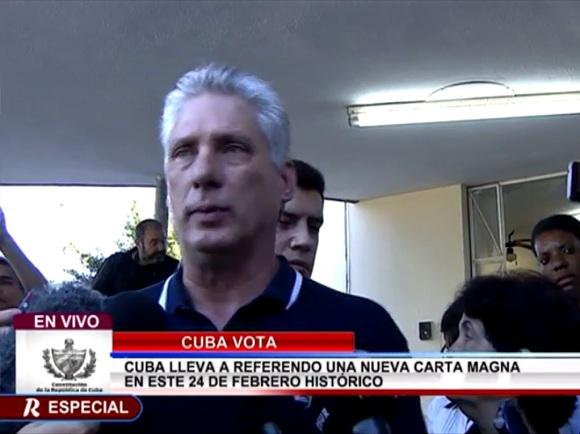 Con nuestro Sí damos un voto por América Latina, afirma Díaz-Canel (+ Video)
