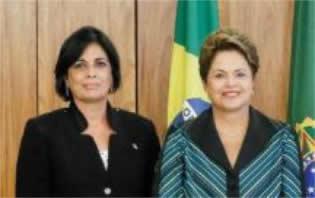 Presidenta Dilma Rousseff recibió a embajadora cubana en Brasil