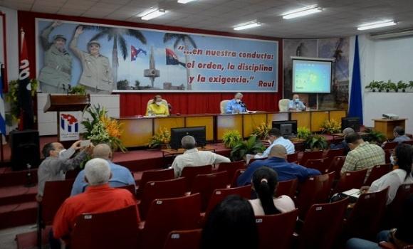 Díaz-Canelpresides over Communist Party assembly in Villa Clara