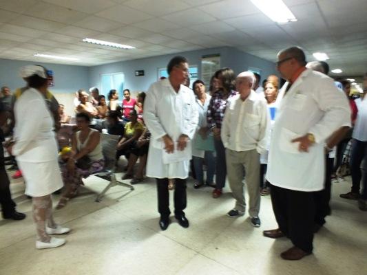 Recorrido por el cuerpo de guardia del hospital docente universitario Manuel Ascunce Domenech.