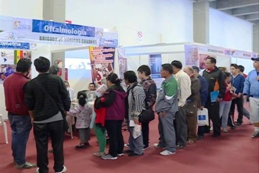 Brigada médica cubana participa en ExpoSalud 2017 en Bolivia