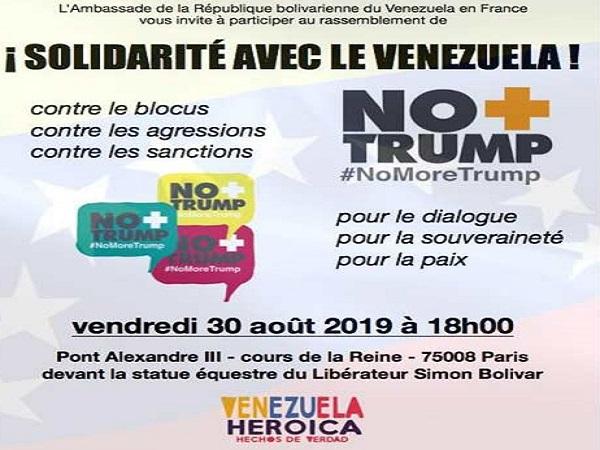 Desde Francia jornada de solidaridad con la Revolución Bolivariana de Venezuela
