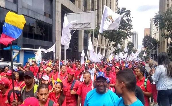 Venezolanos marchan por la unidad latinoamericana