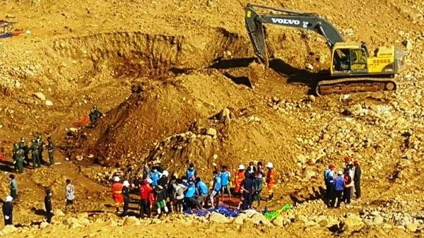 Suspenden búsqueda de desaparecidos tras derrumbe de mina en Myanmar