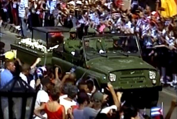 Fidel Castro´s funeral procession enters Santiago de Cuba