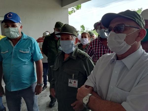 Jefe del Estado Mayor de la Defensa Civil evalúa en Camagüey preparativos para temporada ciclónica
