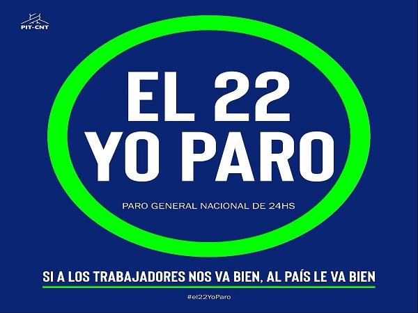 Se paraliza Uruguay por 24 horas