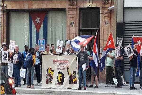 Expresan activistas en Reino Unido solidaridad con Cuba