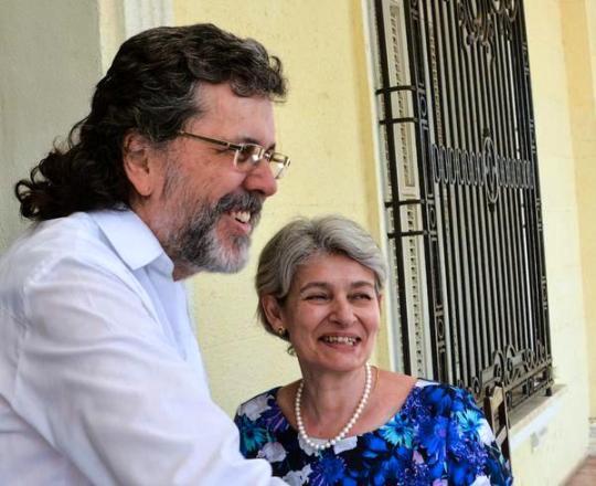 Recibe Abel Prieto a Directora General de la UNESCO