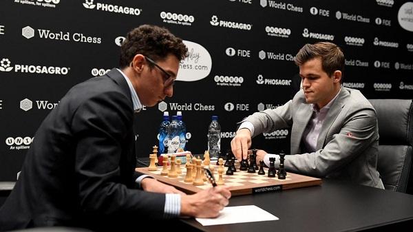 Carlsen y Caruana a partidas semirrápidas por corona de Ajedrez