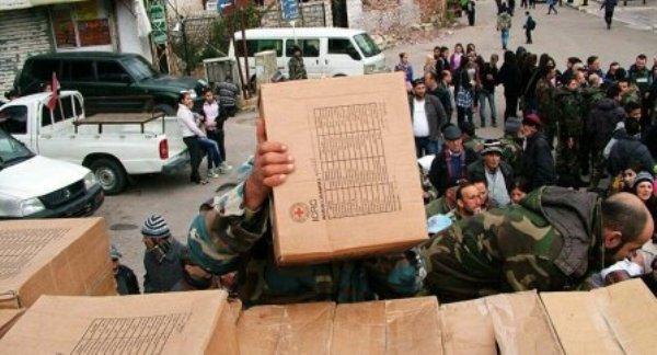 Recibe ayuda humanitaria la ciudad siria de Alepo
