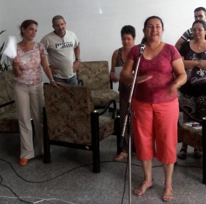 Radialistas camagüeyanos dan bienvenida a su delegada al Congreso partidista (+ Audio y Fotos)
