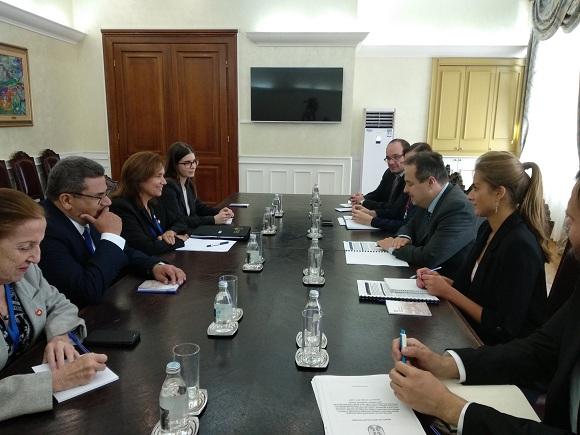 Canciller serbio recibió a Vicepresidenta del Parlamento y Consejo de Estado cubanos (+ Tuit)