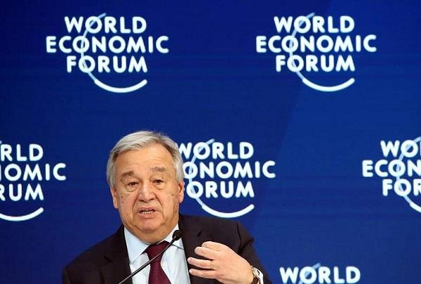 Advierte ONU en Foro de Davos sobre actuales desafíos del planeta