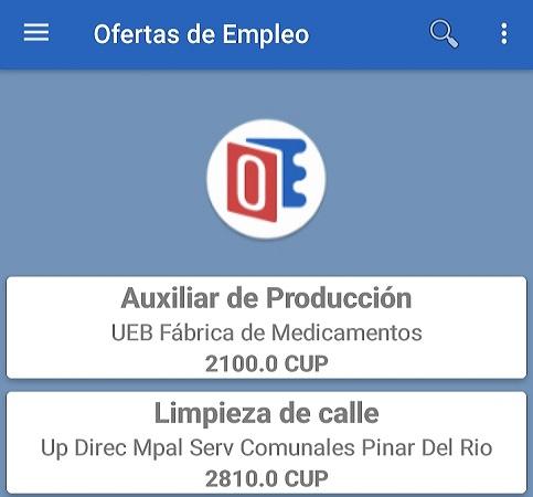 Disponible en Cuba a partir del 28 de enero aplicación móvil Ofertas de Empleo