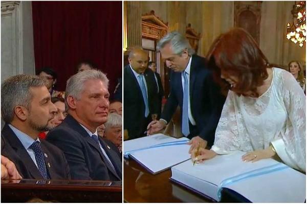 Participa Presidente cubano en toma de posesión de Alberto Fernández