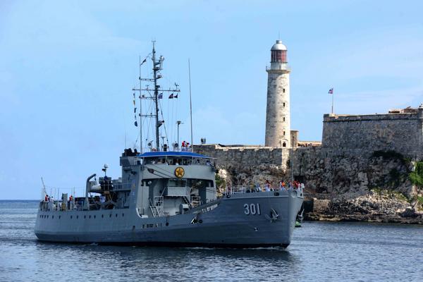 En Cuba, buque de la Armada dominicana