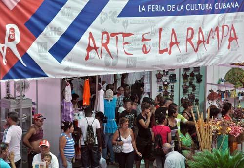 Supera las 70 mil visitas feria Arte en la Rampa