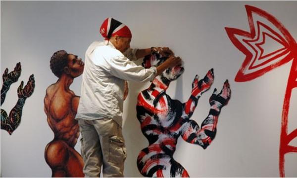 Artista estadounidense expone en Museo de Bellas Artes de Cuba