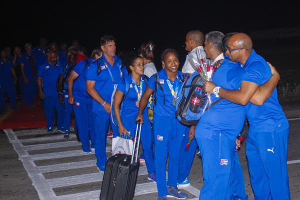 Recibidos en La Habana campeones cubanos en Barranquilla 2018