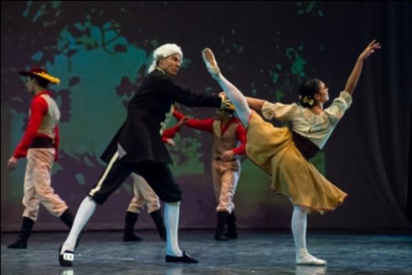 El Ballet de Camagüey interpretó anoche Las llamas de París.
