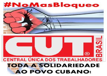 Rechazan trabajadores brasileños bloqueo estadounidense a Cuba