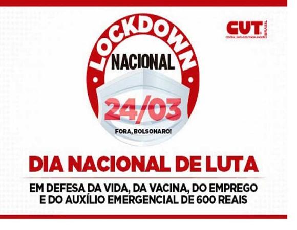 Convocan centrales sindicales brasileñas a paro nacional contra caos por COVID-19