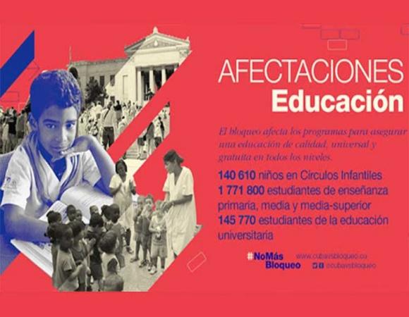 Afecta bloqueo de EE.UU. a sector educativo en Cuba