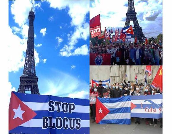 Organizaciones solidarias francesas convocan a movilización contra bloqueo  estadounidense a Cuba