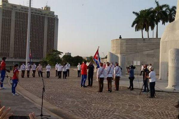 Diaz-Canel flags sports delegation for Tokyo