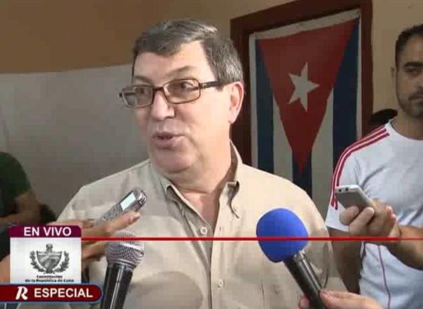 Canciller cubano reafirma solidaridad con Venezuela al ejercer su voto (+Video)